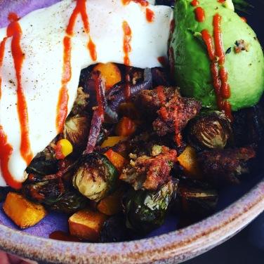 Roasted veggies, eggs and avocado!